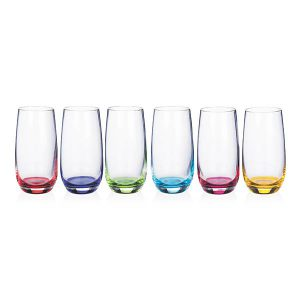 Newgrange Living Rainbow Hi-Ball Glasses Party Pack