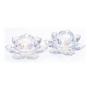 Newgrange Living Unicorn Lustre Lotus T-Light Pair