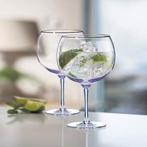 Newgrange Living Unicorn Lustre Gin Glasses