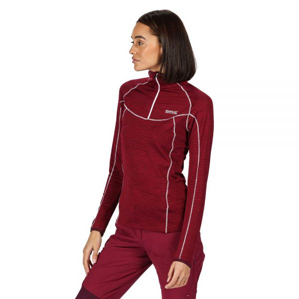 Regatta Yonder Ladies Long Sleeve Half Zip Performance Top
