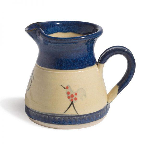 Muckross Pottery Honey and Blue cream jug b