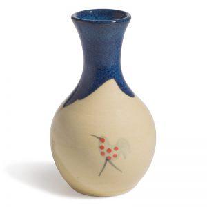 Honey & Blue Posie Vase A