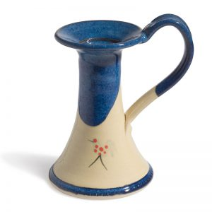 Honey & Blue Candle Holder with Handle