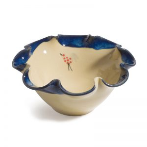 Honey & Blue Ripple Bowl – small