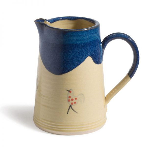 Muckross Pottery honey and blue 1 litre jug