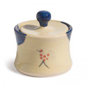 Honey & Blue Sugar Bowl with lid