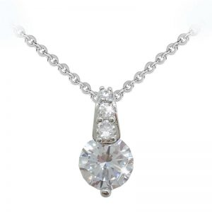 Tipperary Crystal Round Stone Pavé Bale Pendant