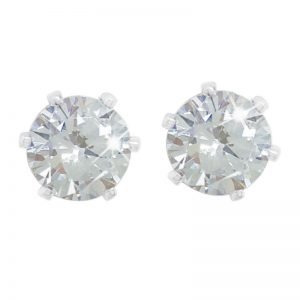 Tipperary Crystal Silver & Crystal Solitare Stud Earrings