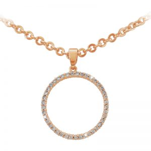 Tipperary Crystal Rose Gold Circle Pendant