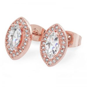 Tipperary Crystal Rose Gold Marquise Cut Earrings