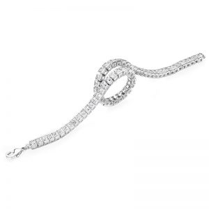 Tipperary Crystal Silver Tennis Bracelet