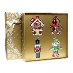 Tipperary Crystal Christmas Decorations Gold Gift Box