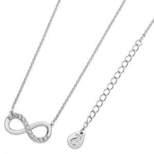 Tipperary Crystal Infinity Part Stone Silver Pendant