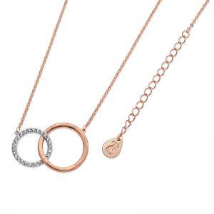 Tipperary Crystal Matt & Pavé Infinity Circles Pendant