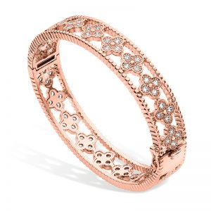 Tipperary Crystal Rose Gold Flower Bangle
