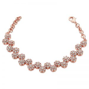 Tipperary Crystal Rose Gold Daisy Diamante Bracelet