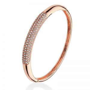 Tipperary Crystal Rose Gold Pavé Set Bangle