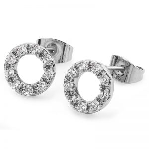 Tipperary Crystal Silver & Crystal Forever Moon Earrings