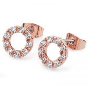Tipperary Crystal Rose Gold & Crystal Forever Moon Earrings