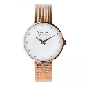 Tipperary Crystal Ultimo Rose Gold Watch
