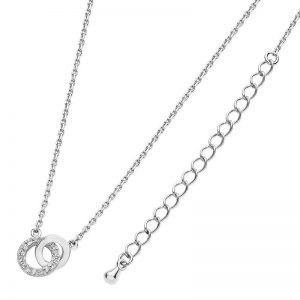 Tipperary Crystal Silver Interlocking Circles Pendant
