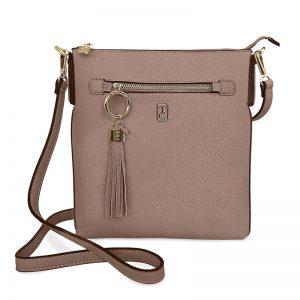 Tipperary Crystal Greige Chelsea Bag