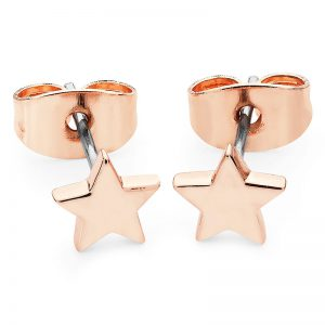 Tipperary Crystal Mini Rose Gold Star Stud Earrings