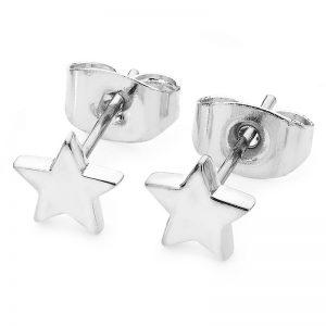 Tipperary Crystal Mini Silver Star Stud Earrings