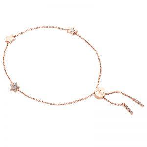 Tipperary Crystal Rose Gold Star Bracelet