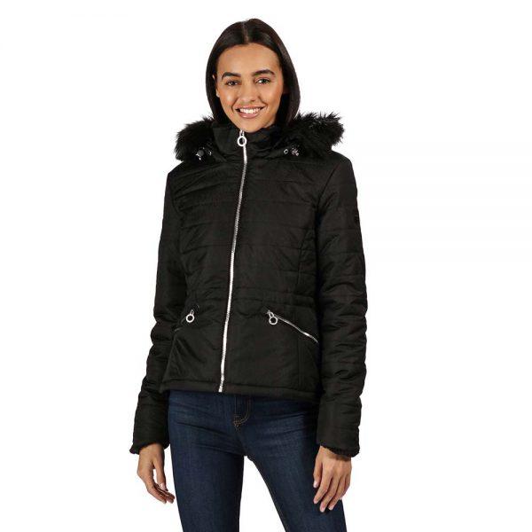 Regatta Westlynn Ladies Insulated Fur Trimmed Hooded Jacket