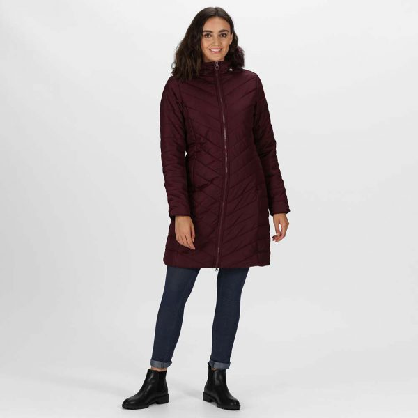 Regatta Ladies Fritha Insulated Quilted Fur Trimmed Hooded Parka CoatÊ