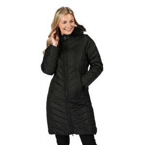 Regatta Ladies Fritha Insulated Quilted Fur Trimmed Hooded Parka Coat