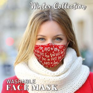 Washable Ho Ho Ho Face Mask