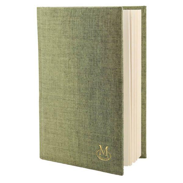 Muckross Bookbinding Green Linen Journal