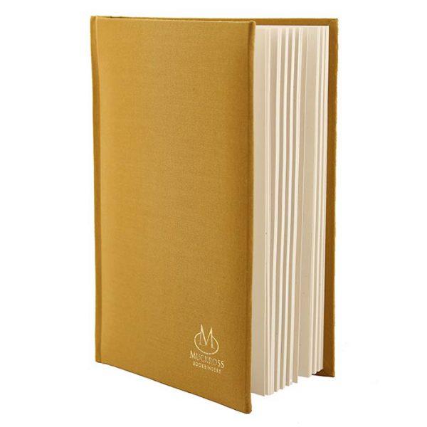 Muckross Bookbinding Mustard Linen Journal