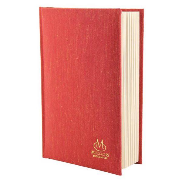 Muckross Bookbinding Red Linen Journal