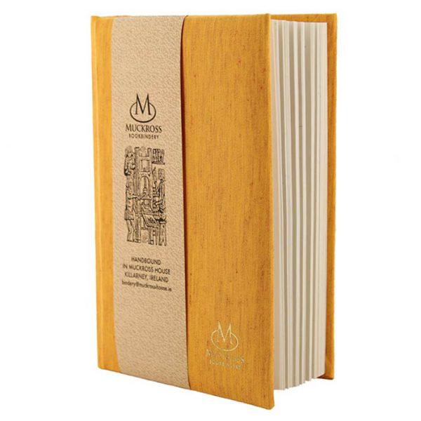 Muckross Bookbinding Yellow Linen Journal