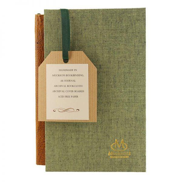 Muckross Bookbinding green journal and gift box