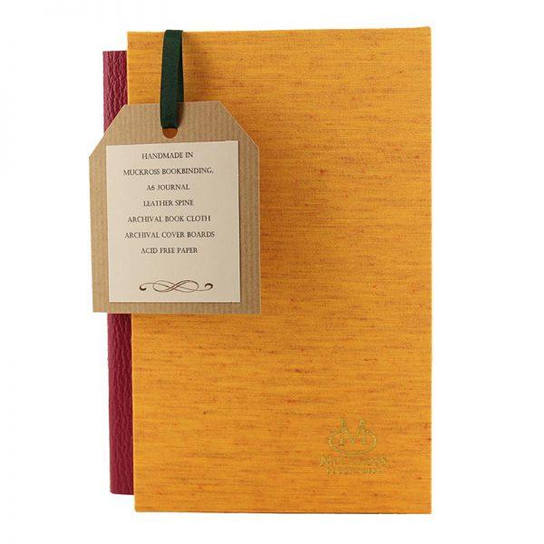 Muckross Bookbinding orange journal and gift box