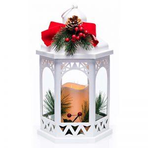 Newgrange Living White Christmas Lantern