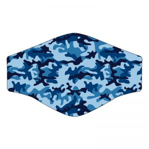 Washable Blue Camouflage Kids Face Mask