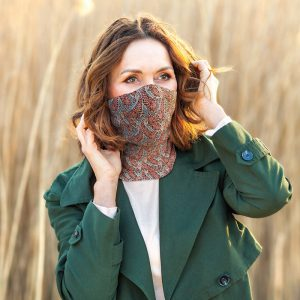 Washable Burgandy Paisley Ladies Snood