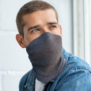Washable Herringbone Men's Snood