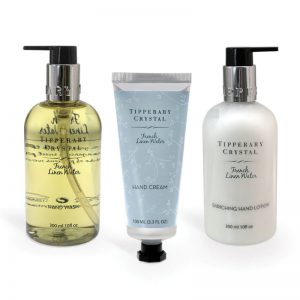 Tipperary Crystal French Linen Water Hand Care Box Set