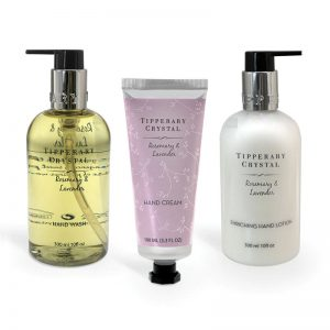Tipperary Crystal Rosemary & Lavender Handcare Box Set