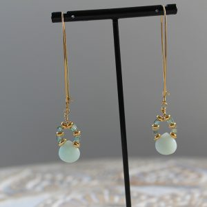 Amazon Delight Teardrop Long Earrings By K Kajoux