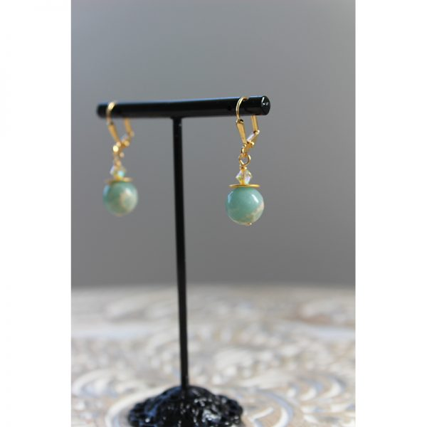 Amazon-Spirit-linear-short-earrings-KL-1479-(2)