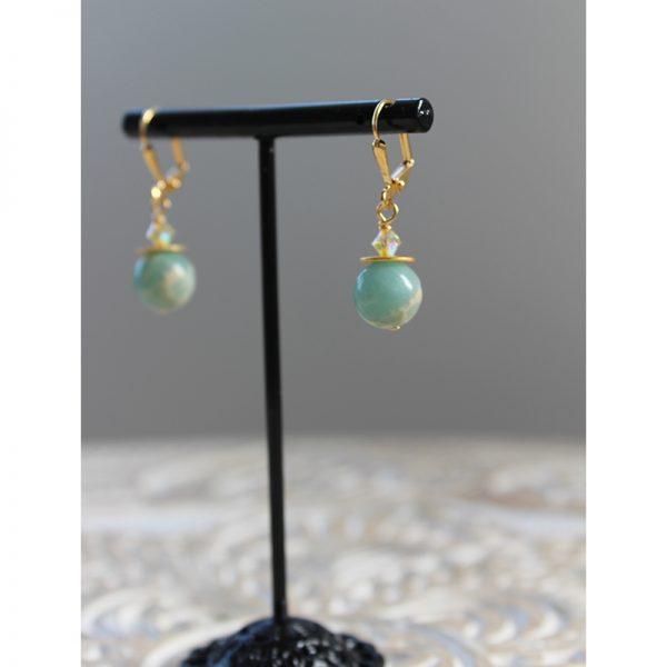 Amazon-Spirit-linear-short-earrings-KL-1479