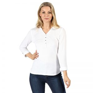 Regatta Fflur Long Sleeve Half Button Top