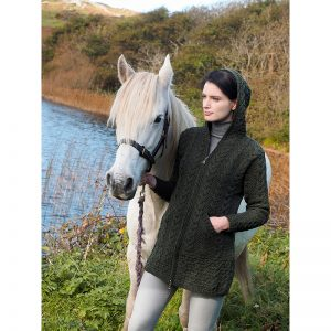 Aran Crafts Galway Hooded Knitted Coat